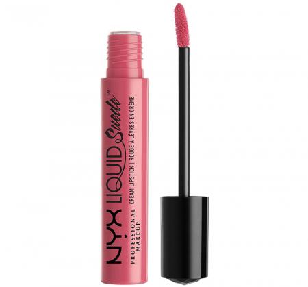 Ruj lichid mat NYX Professional Makeup Liquid Suede Cream, 09 Tea & Cookies, 4 ml0