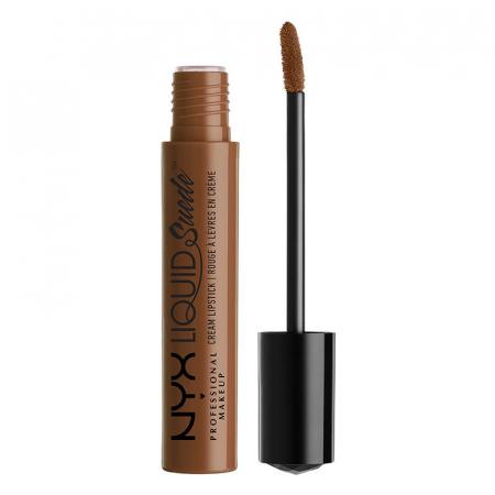 Ruj lichid mat NYX Professional Makeup Liquid Suede Cream, 22 Downtown Beauty, 4 ml0