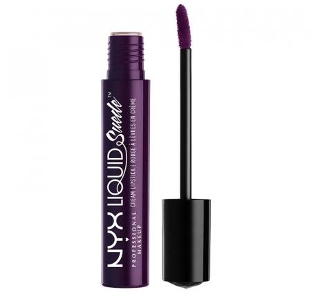 Ruj lichid mat NYX Professional Makeup Liquid Suede Cream, 44 Temptress, 4 ml0