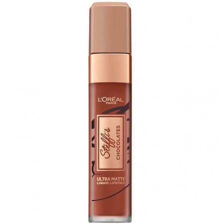 Ruj lichid ultra mat rezistent la transfer L'Oreal Paris Steffi's Chocolates, 862 Volupto Choco