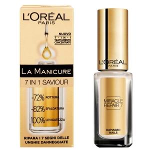 Ser 7 In 1 Pentru Unghii Deteriorate L'oreal La Manicure, 5 ml