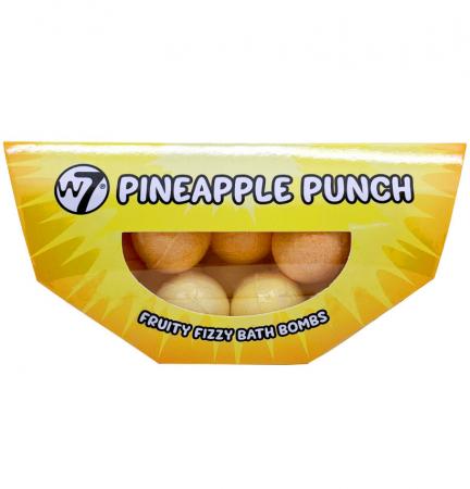 Set 10 Bile Efervescente de baie W7 Pineapple Punch Fruity Fizzy Bath Bombs, 10 x 10 g