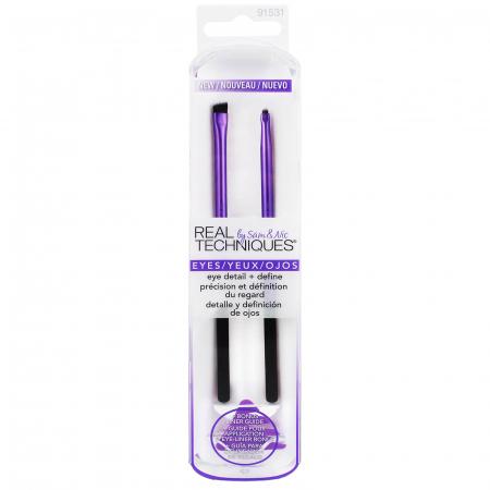 Set 2 Pensule Profesionale REAL TECHNIQUES Eye detail + Define brush set1
