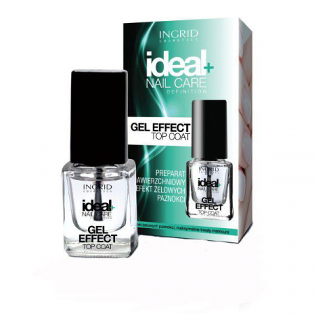 Lac de unghii pentru acoperire cu efect de gel INGRID Ideal Gel Effect Top Coat, 7 ml