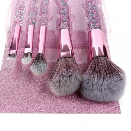 Set 5 Pensule cu Glitter pentru machiaj, Complexion 5 Brush Kit1