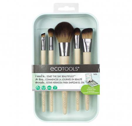 Set 5 Pensule pentru machiaj ECOTOOLS Start The Day Beautifully Brush Kit