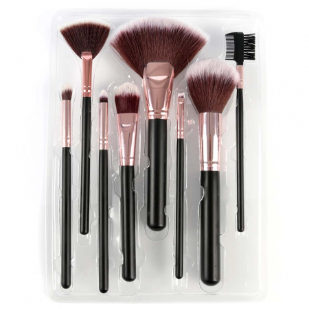 Set 8 Pensule Profesionale pentru machiaj, Complexion Brush Kit