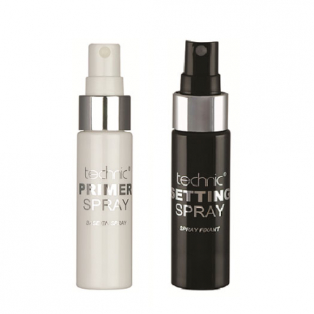 Set Baza de Machiaj Technic Primer Spray si Spray Fixator Matifiant Technic Setting Spray, 2 x 31 ml