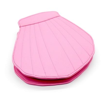 Trusa Profesionala Cu 10 Pensule De Machiaj In Forma De Scoica Sea Shell - Pink3