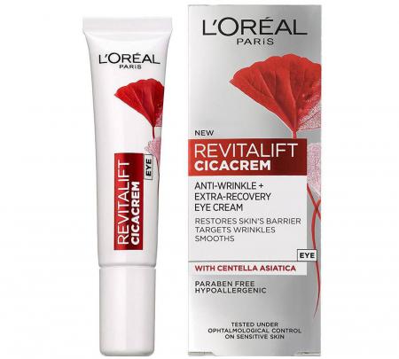 Crema de ochi anti-rid L'Oreal Paris Revitalift Cicacrem Extra-Recovery, 15 ml
