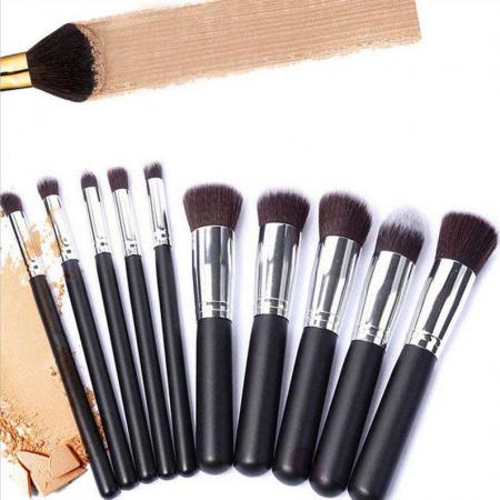 Set de 10 Pensule Profesionale Top Quality Kabuki Lilyz, Black1