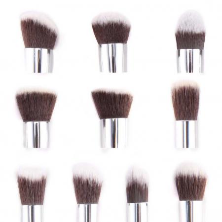 Set de 10 Pensule Profesionale Top Quality Kabuki Lilyz, White1