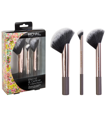 Set de 3 Pensule Profesionale ROYAL Blend & Define Collection