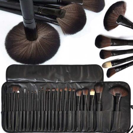 Set de 24 Pensule Profesionale Top Quality Lilyz, mix de par natural, Black3