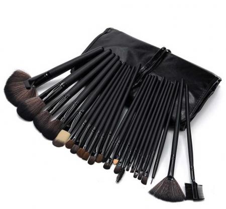 Set de 24 Pensule Profesionale Top Quality Lilyz, mix de par natural, Black1