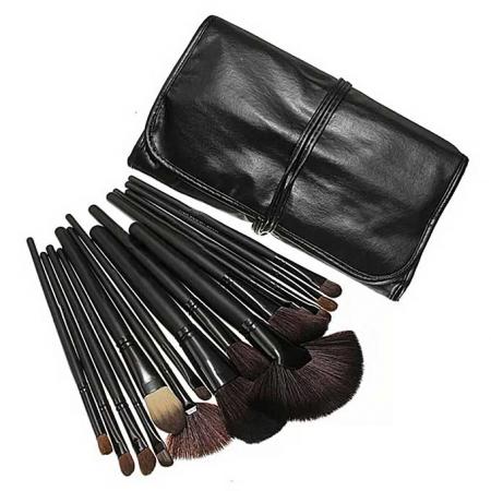 Set de 24 Pensule Profesionale Top Quality Lilyz, mix de par natural, Black9