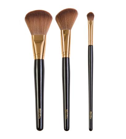 Set de 3 pensule pentru machiajul tenului ROYAL Flawless Face Brush1