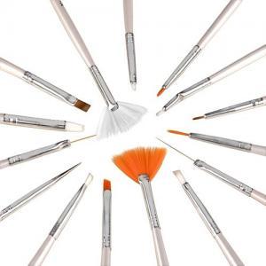 Set 15 Pensule Profesionale Nail Art pentru Pictura Unghiilor - White2