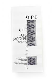 Pachet 16 Abtibilduri Pentru Unghii OPI Pure Lacquer - Zig Zag Sparkle