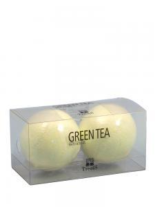 Set 2 Bile Efervescente de Baie TREETS cu Ceai Verde - 2 x 180 gr