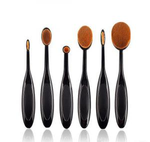 Set 6 Pensule Ovale Profesionale pentru makeup Luxury Edition - Black1
