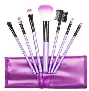 Set 7 Pensule Profesionale Luxury pentru Machiaj - Purple Addicted0