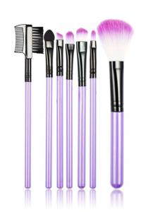 Set 7 Pensule Profesionale Luxury pentru Machiaj - Purple Addicted1