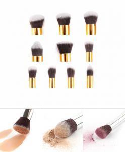 Set 10 Pensule Profesionale Top Quality Kabuki cu Etui, Gold Edition2