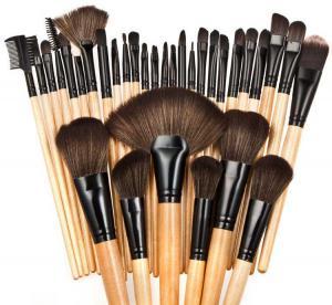 Set de 32 Pensule Profesionale din Par Natural Top Quality Hair - WOOD1