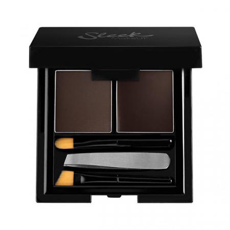 Kit pentru sprancene SLEEK MakeUP Brow Kit - Extra Dark, 3.8g