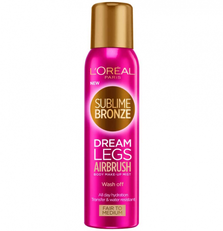 Spray Autobronzant L'Oreal Paris Sublime Bronze Dream Legs Airbrush, Fair to Medium, 150 ml