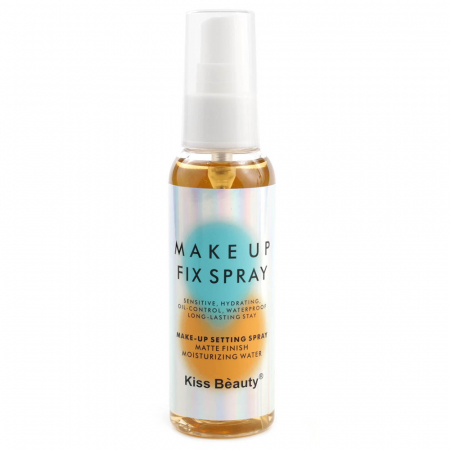 Spray fixare machiaj Kiss Beauty Makeup Fix Spray pentru ten gras, Caise, 100 ml