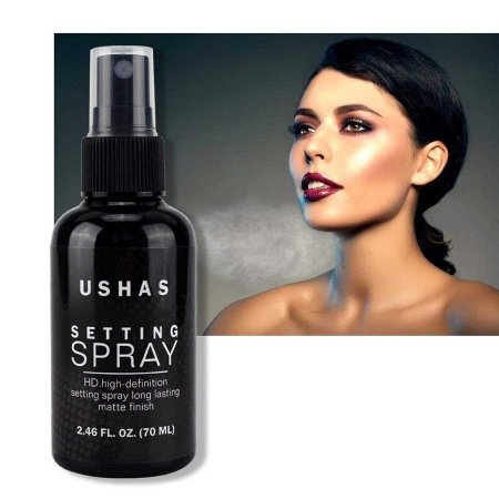 Spray Matifiant Pentru Fixarea Machiajului Ushas Setting Spray HD, 70 ml5