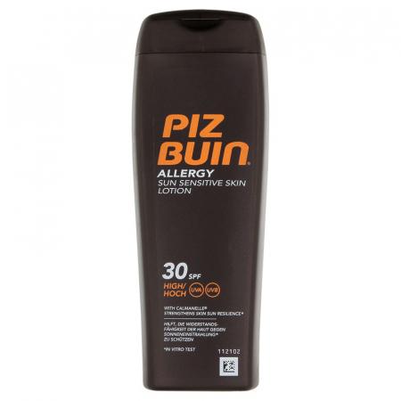 Lotiune Protectie Solara pentru piele sensibila PIZ BUIN Allergy Sun Lotion SPF 30, 200 ml