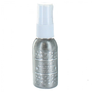Spray Stralucitor Pentru Fata Si Corp Technic Face And Body Shimmer - Grey, 30 ml