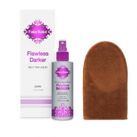 Spray Autobronzant Profesional FAKE BAKE Flawless Darker Self-Tan Liquid, Dark, 170 ml