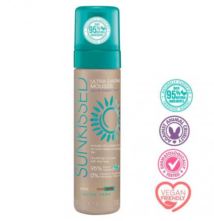Spuma Autobronzanta Profesionala SUNKISSED Self-tan, Ultra-Dark, 95% Ingrediente Naturale, 200 ml2