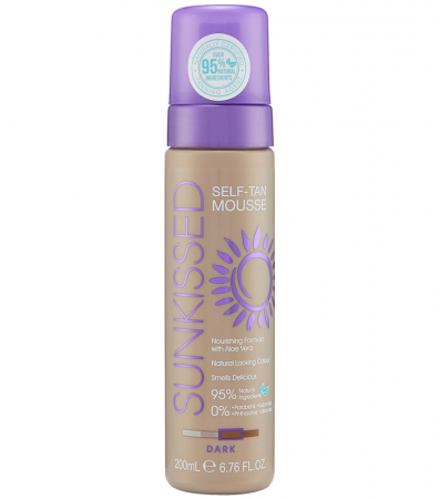 Spuma Autobronzanta Profesionala SUNKISSED Self-tan, Dark, 95% Ingrediente Naturale, 200 ml