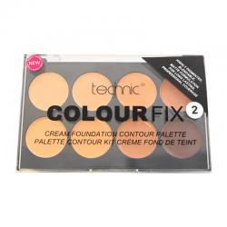 Trusa Profesionala cu 8 Fonduri De Ten Cremoase Pentru Conturarea Fetei Technic Colour Fix 2, 8x3.5g