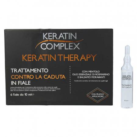 Tratament impotriva caderii parului, Keratin Complex, 6 fiole x 10 ml