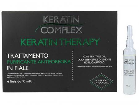 Tratament purificator antimatreata, Keratin Complex, 6 fiole x 10 ml