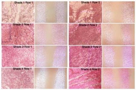 Trusa cu 8 Blushuri MAKEUP REVOLUTION Blush Palette pentru conturare si iluminare - Blush Queen, 13g2