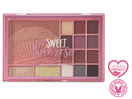 Paleta pentru machiaj SUNKISSED Sweet Sunrise The Ultimate Face Palette3