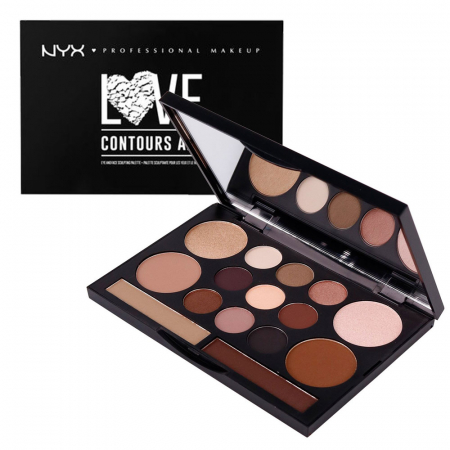 Paleta Profesionala Machiaj NYX Professional Makeup LOVE CONTOURS ALL Eye & Face Sculpting Palette3
