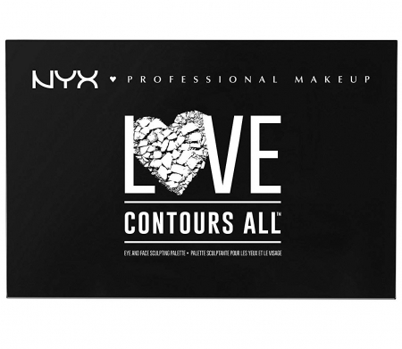 Paleta Profesionala Machiaj NYX Professional Makeup LOVE CONTOURS ALL Eye & Face Sculpting Palette4