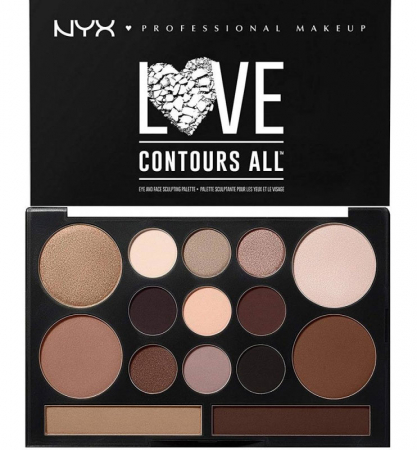 Paleta Profesionala Machiaj NYX Professional Makeup LOVE CONTOURS ALL Eye & Face Sculpting Palette0