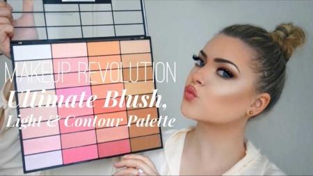 Trusa pentru Conturare Makeup Revolution Ultimate Blush, Light & Contour 2018, 32 nuante4