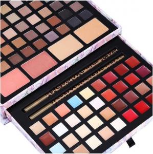 Trusa Profesionala pentru Machiaj Miss Rose Deluxe Shimmer & Matte, 85 culori, Imperial Flowers7