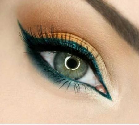 Creion de ochi Rimmel London WONDER OMBRE Holographic Effect, 002 Galactic Green, 1.3 g3