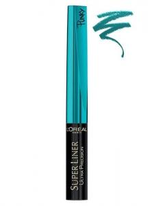 Tus De Ochi L'oreal Super Liner Ultra Precision Punky - Turquoise